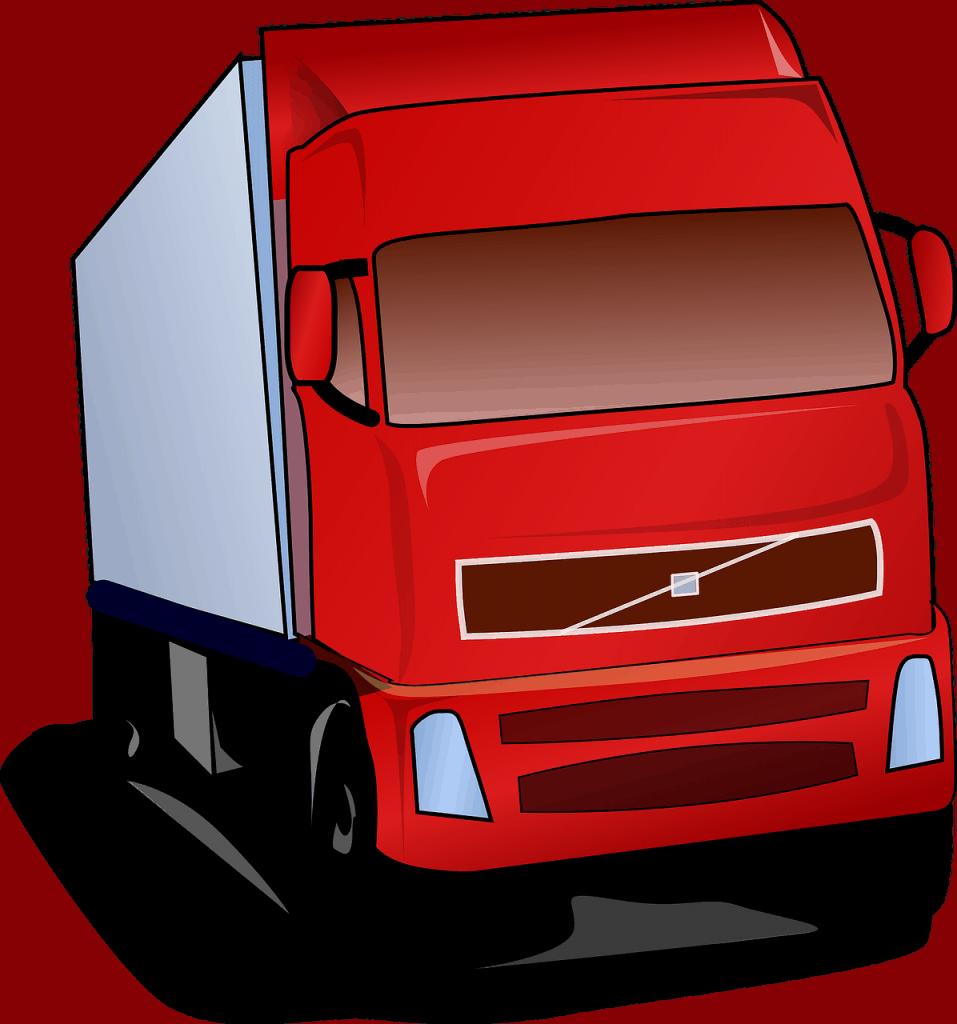 משאית אדומה