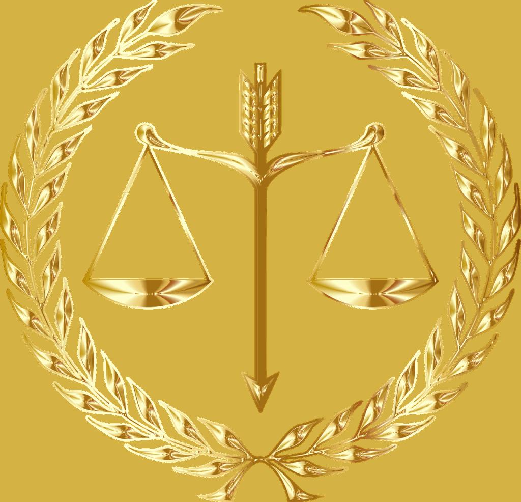 סמל משפטי מזהב